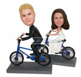 Custom Couple bobblehead Riding To The Church