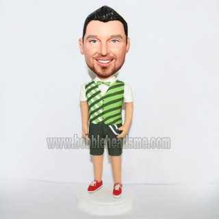 Striped Vest With Bow Tie Custom Fashion Boy Bobbleheads