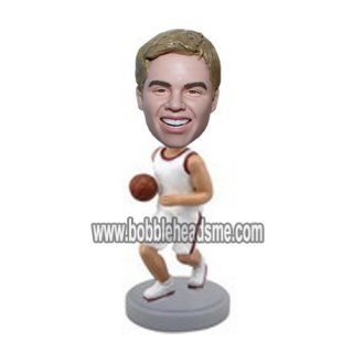 Customized College Hoops Player Holding A Basketball Bobbleheads