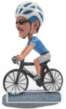 Custom Bobblehead Dirty Bike Rider In A Helmet