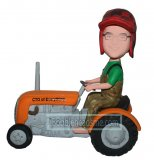 Tractor Riding On Road Custom bobblehead doll 3