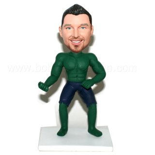The Hulk Aqua Man Bobble Head Doll