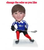 Custom Sports Bobblehead Hockey Boy Skating To Get A Goal
