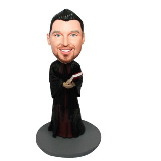 Male Priest With Bible Customized Bobblehead
