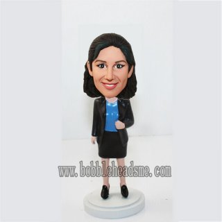 Customized Jacket Executive Female Bobblehead Doll