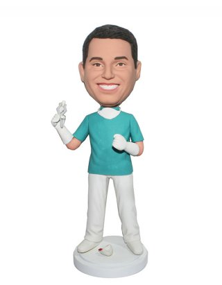Customized Bobblehead doll Male Dentist With Tooth
