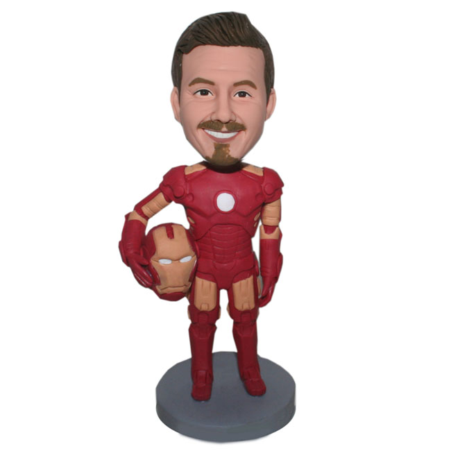 Personalized Male Bobblehead Iron Man In The Battle Suit