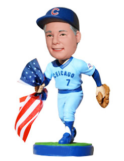 Custom Baseball bobbleheads Running Catcher With American Flag