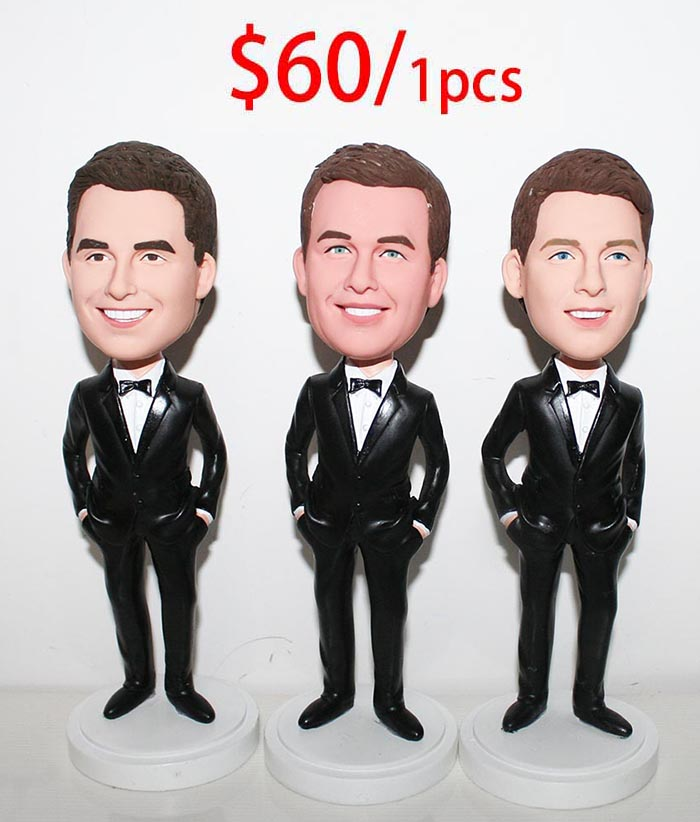 Groupon Wedding: Custom Bobblehead Groupon Wholesale Cheap 3