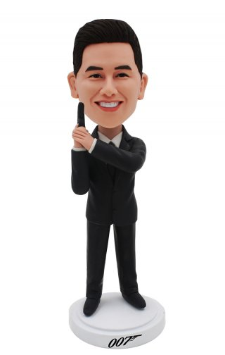 Custom Bobble Head 007 James Bond