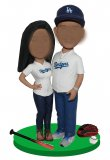 Custom Sports Fan Bobblehead Baseball couple Doll
