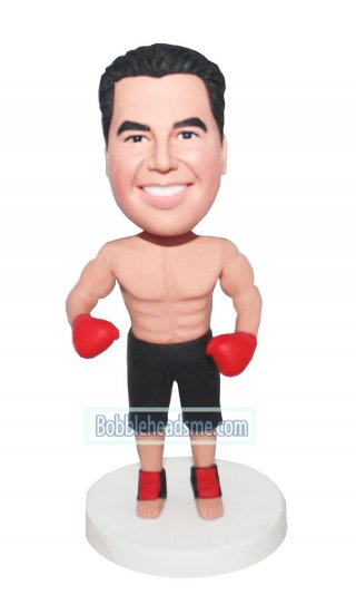 Polymer Clay Make Boxer Bobbleheads In Trunks And Gloves customized bobbleheads cheap