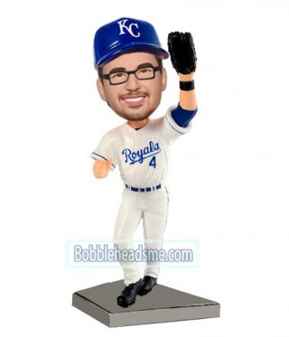 Custom Sports Bobbleheads Baseball Player In White And Blue