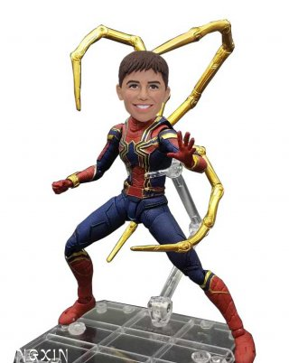 Custom Peter Parker Spider-Man Bobblehead Action Dolls