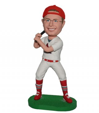 Custom Make Baseball Player bobblehead Swing The Bat