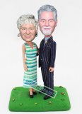 Custom Bobblehead Couple Happy 50th Anniversary