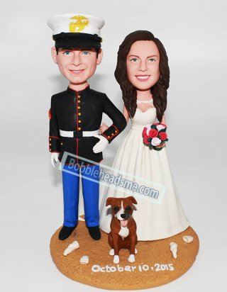 Personalized Uniform Wedding People and Pets Bobbleheads