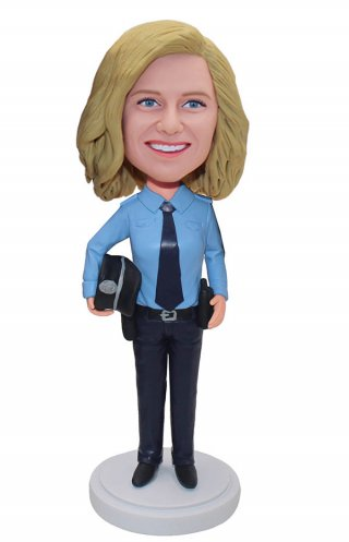 Custom Bobblehead Cop Sheriff Doll