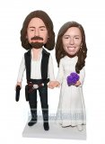 Make Your Own Bobblehead Star Wars Han Solo & Princess Leia
