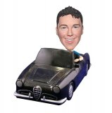 Male Driving Car Custom Bobblehead Dolls