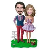Personalized Bobble Heads Lovers Anniversary Gift Ideas