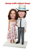 Customized Couple bobbleheads Man And Woman On A Honeymoon