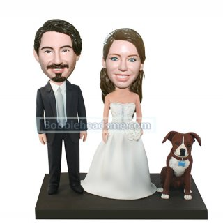 Discount Collectible bobbleheads For Wedding Cake Toppers & Velantine Gift