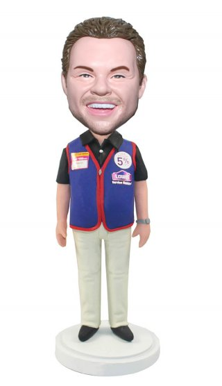 Customized Male Bobblehead Shopping Guide In a Work Shirt