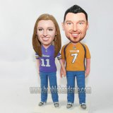 Player Coupe In Uniform Hand In Hand Bobblehead Doll