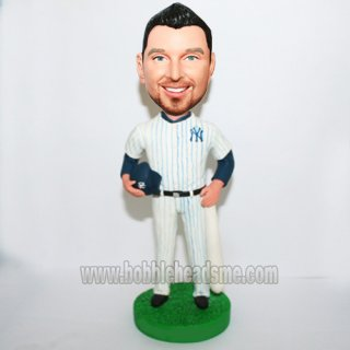 Baseball Player Long-sleeve Shirt Inside Bobblehead Doll