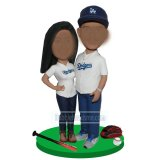 Custom Couple Bobbleheads Baseball Player