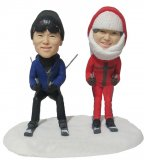 Make Your Own Skiing Bobblehead Doll