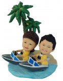 Customized Motorboat Bobble Head Gifts For Boys