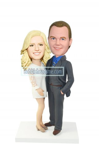 Custom Fashion Couple bobbleheads Hands Around Each Other