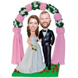 Affordable Custom Bobble Head For Wedding Cake
