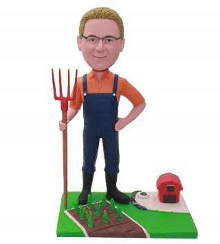 Custom Farmer Bobblehead Dolls From Photo