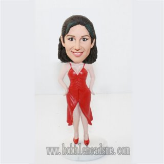 Sexy Woman with Split Skirt Bobble Doll