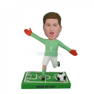 61f1adaa9 Personalized Male Bobblehead Doll Kicking The Soccer Ball