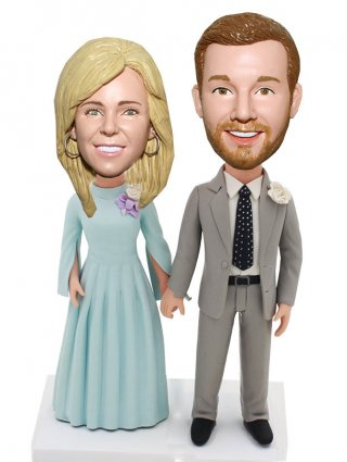 Personalized Bobble Heads Couple Doll