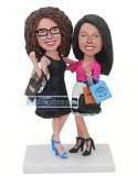 Custom Sister Shopping Bobble Head Of Yourself