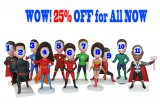 25% Off For All Custom Superhero Figurine