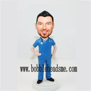 Male Doctor With Stethoscope Custom Bobbleheads