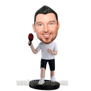 Down-spin Ball Custom Pingpong Player Bobbleheads