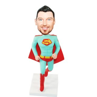 Running Superman Custom Bobbleheads