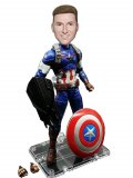 Custom Captain America Bobblehead Superhero Figurine