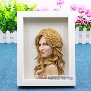 Customized Body Half Doll With Frame Personalized Gifts 8-inch