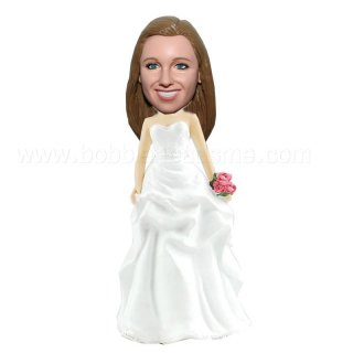 Customized Bridesmaid with Flowers Bobbleheads