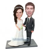Custom Wedding Gift Bobbleheads Maker Bride And Groom In White And Black